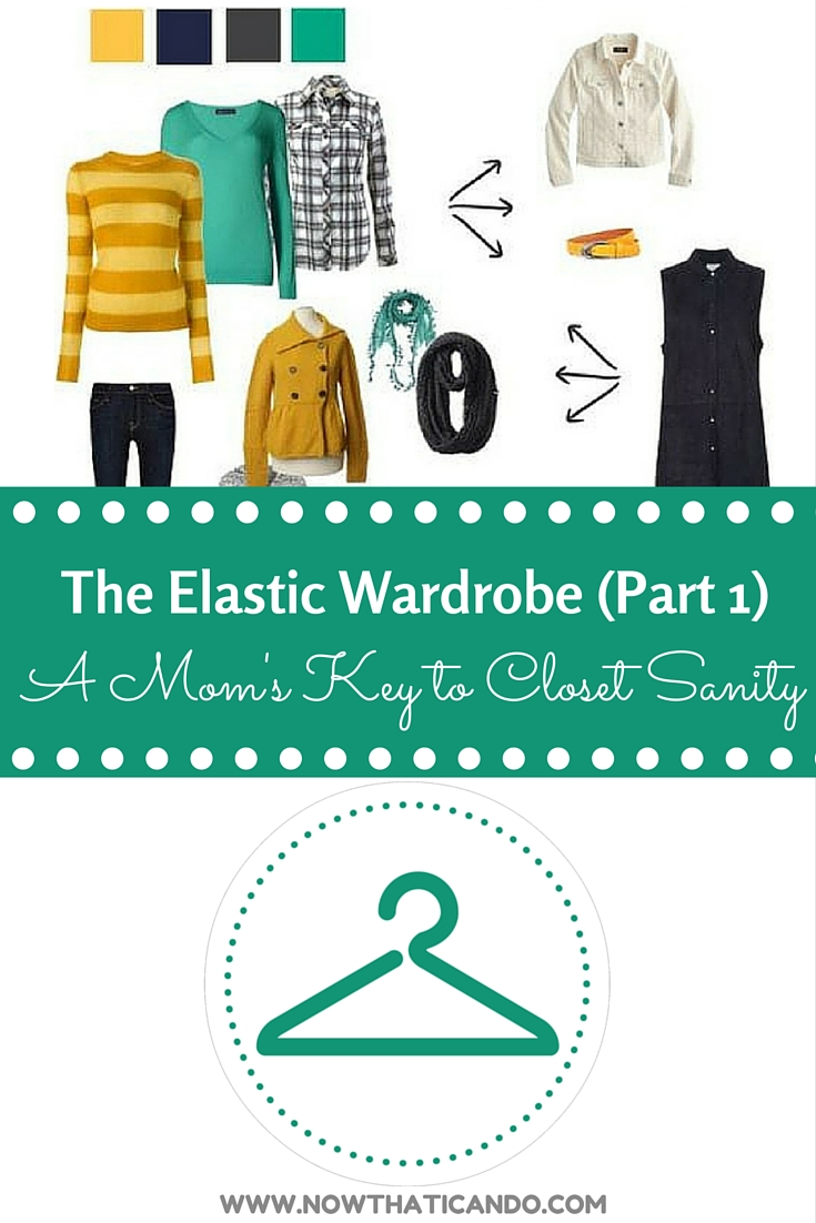 "The Mom's key to closet sanity! Check out the series on ""Now THAT I Can Do, Momma!"" to get walked through the steps to reshaping your wardrobe on a budget. Makes it easy for moms to find something to wear each morning."