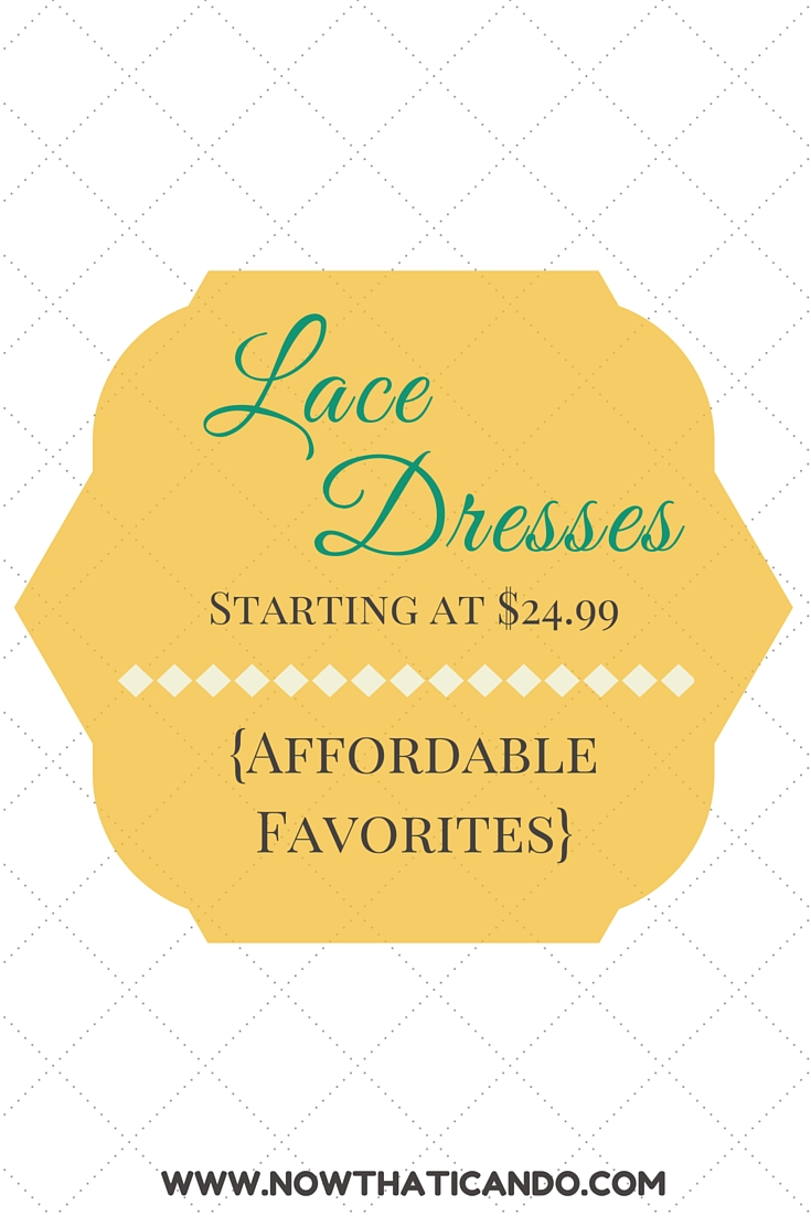 Modest, gorgeous, and quality lace dresses are hard to find at bargain prices! TJ Maxx has some great options for less than $40. Lace // Affordable // Mommy Fashion // Special Occasions