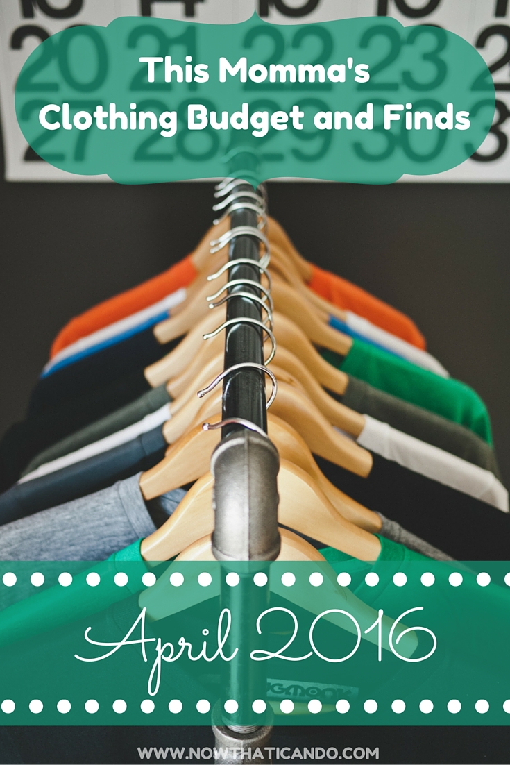 This mommy blogger shares her clothing budget and finds each month. See how her wardrobe is shaping up in April! This month the goal was finding active wear and maternity items.