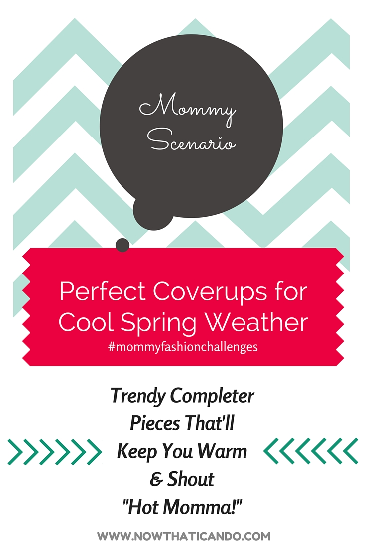 Light completer pieces for spring that'll keep moms comfortable and give their outfits a splash of easy fashion! // Mommy Style // Mom Fashion // Budget Fashion