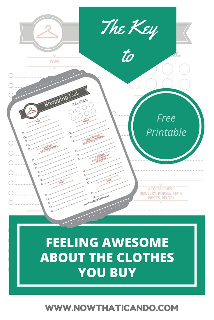 How to Create a Smart Wardrobe Shopping List (+ free printable ...