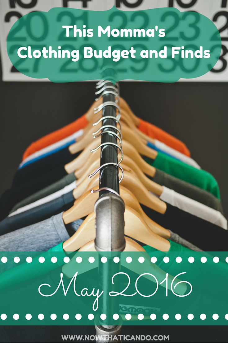 One mom's monthly budget and clothing finds. A fun report with pictures and example outfits from the purchases. // Mommy style // budget // shopping list // clothing bargains // maternity