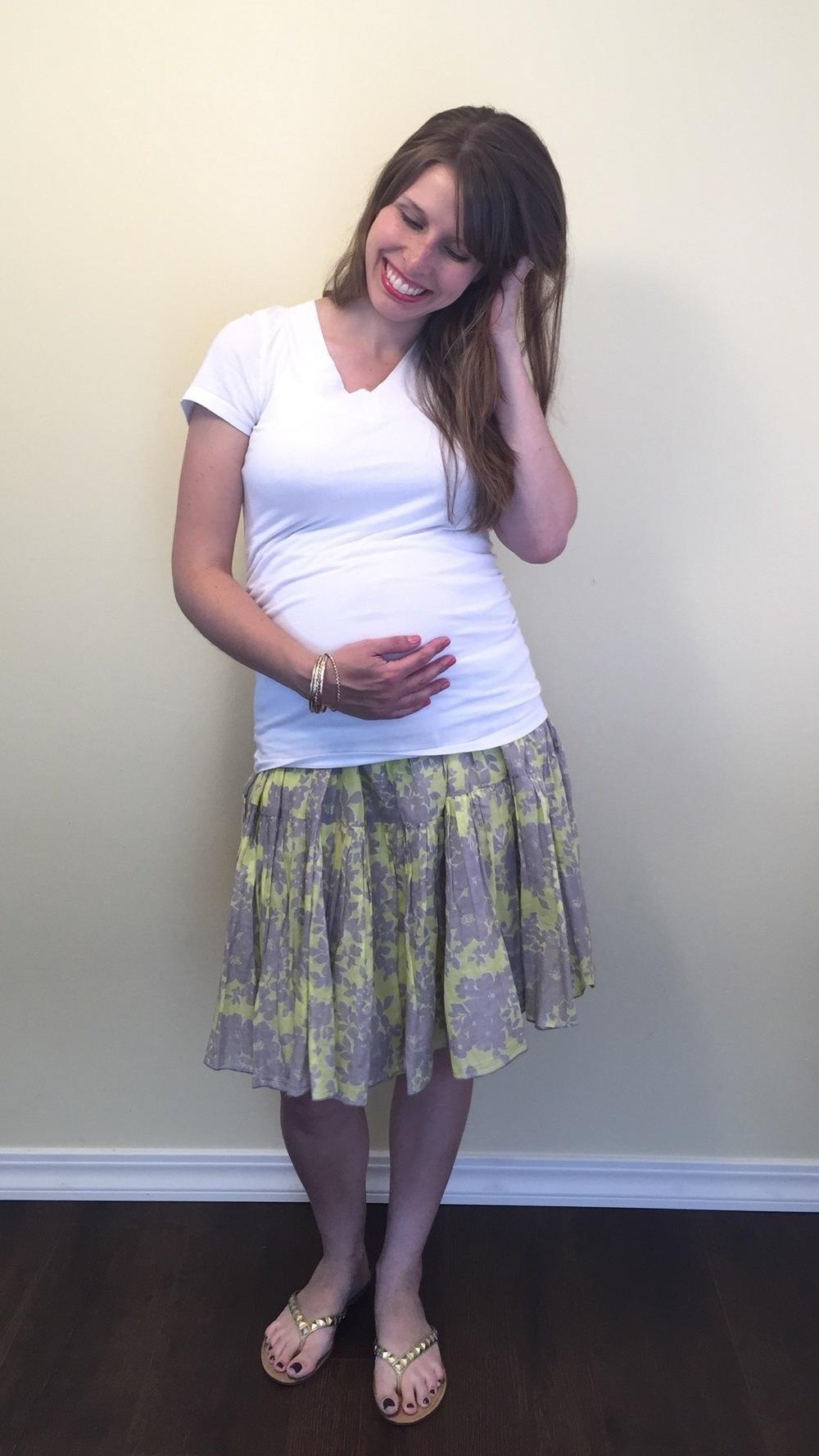 Midi Skirt, white tee, beach hair (1).jpg