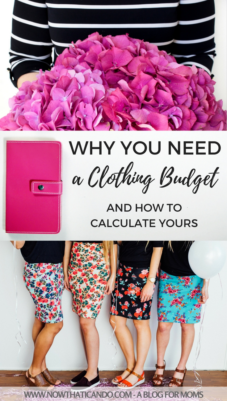 The best mommy wardrobes are well thought out and purposeful. A monthly clothing budget can help towards that goal. And they're easy to calculate for your needs and income level.jpg