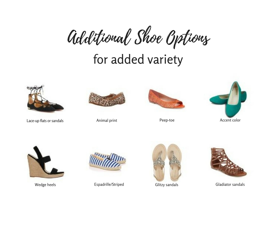 Are you a mom who is bored by your shoe options? Here are some fun options to consider adding to your wardrobe. They are interesting and personalized, while being basic enough to work across many outfits! Click through for additional tips on the best shoes for a mom's wardrobe.