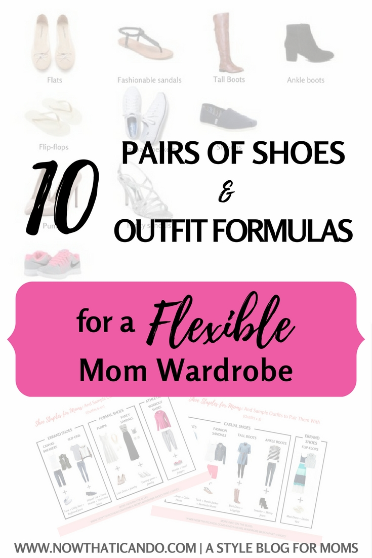 Ever frustrated by not having the right shoes to go with your outfits on a regular basis? Looking for some chic to add to your mom wardrobe without compromising comfort? This blogger breaks down the four basic categories of shoes moms should be looking for. Click through for the best comfortable and versatile shoes to own as a mom, and some inspiration for how to wear them in every day outfits.