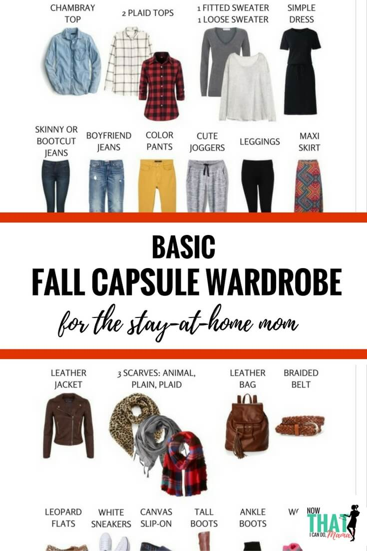 Are you a stay-at-home mom needing ideas for a flexibly stylish but comfortable fall wardrobe? Check out this simple ensemble that creates 72+ outfits to keep you looking fabulous all fall! Click through for graphics and a free printable checklist.