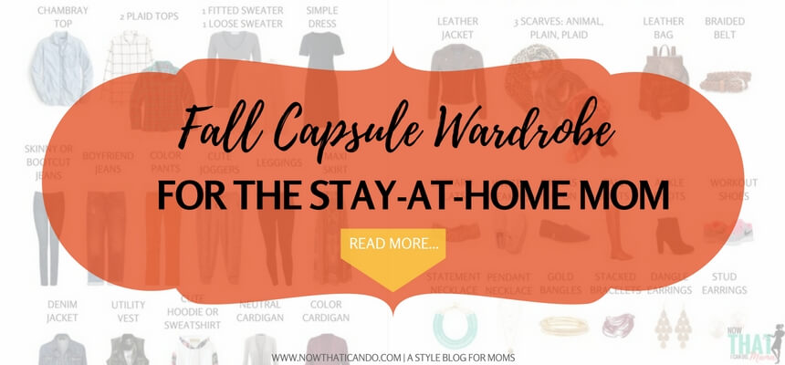 Are you a mom wondering what pieces to have in her closet for fall? This simple capsule wardrobe will equip you with the very basics and give you a flexible wardrobe and something cute to wear everyday! Free checklist printable also included. Click through to see the pieces.