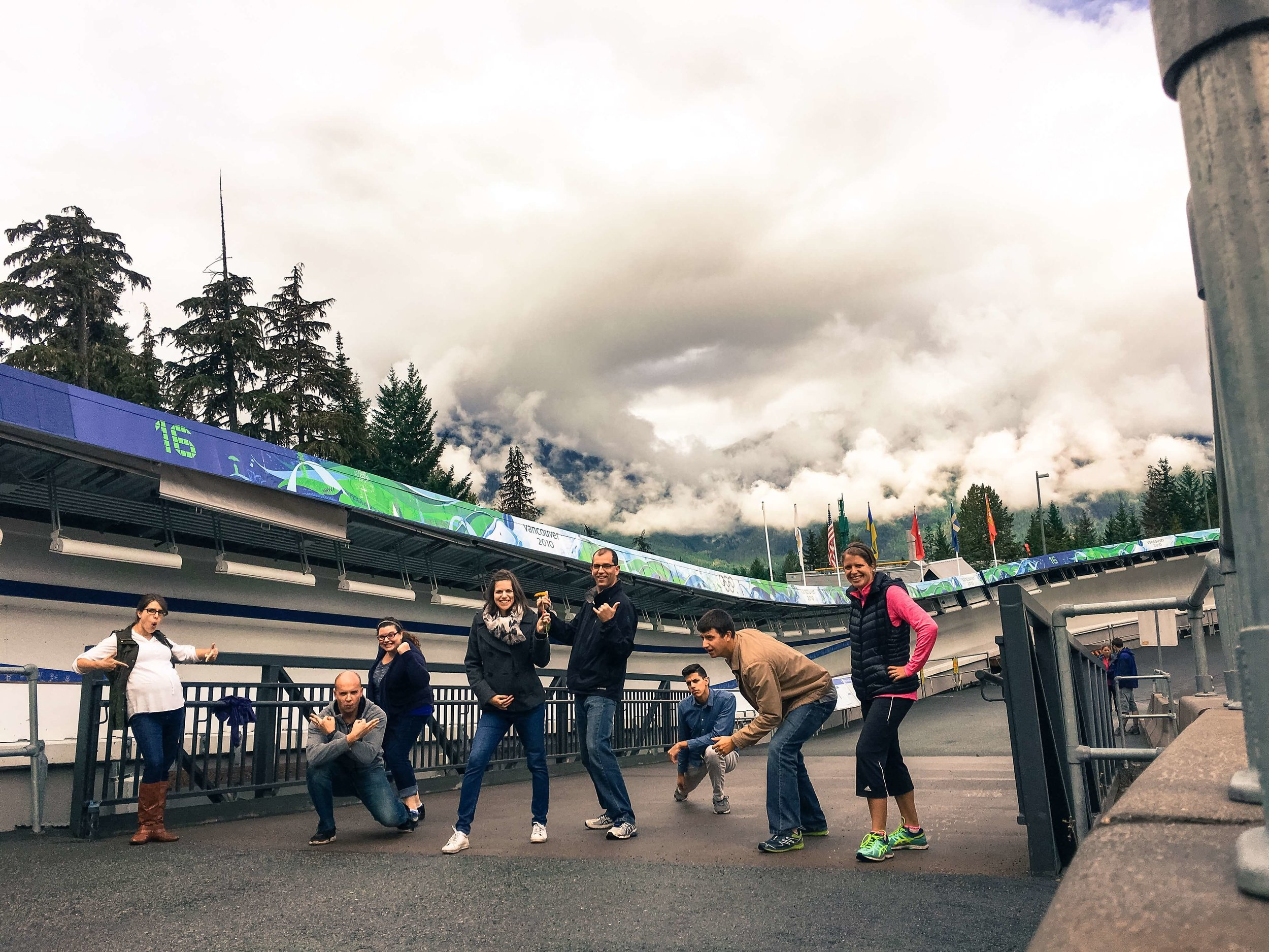 The Whistler Sliding Center in Canada, where the 2010 Winter Olympics were held.