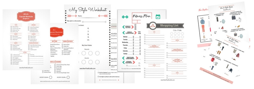 Free printable PDF's for moms who want to find their style and develop a flexible wardrobe!