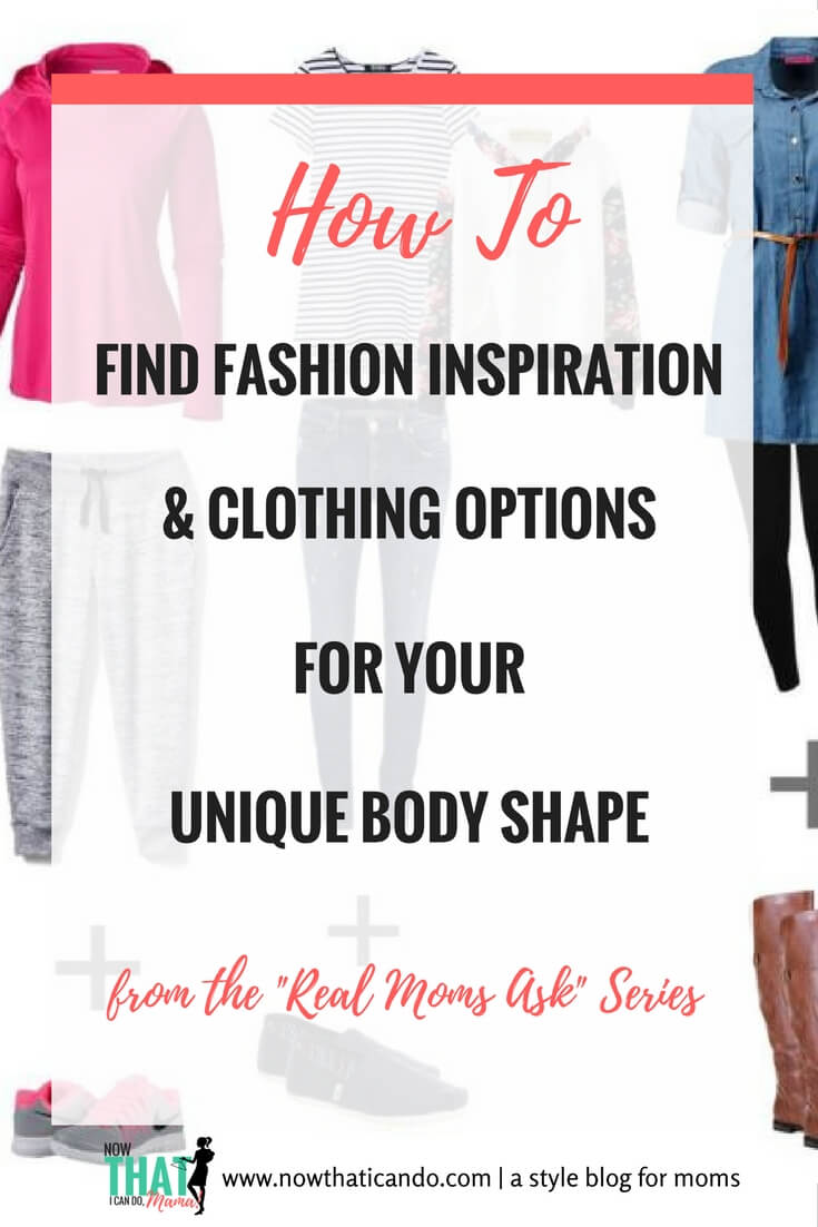Ever frustrated by the unrealistic body types modeling all the clothes in stores? Lost about where to get ideas for dressing YOUR unique body shape? Whether you're, tall and slim, petite and plus size, or something in between, this mom blogger offers some ways to find inspiration to dress well. Click through for ideas to dressing well as a mom regardless of your unique weight, height, or size!