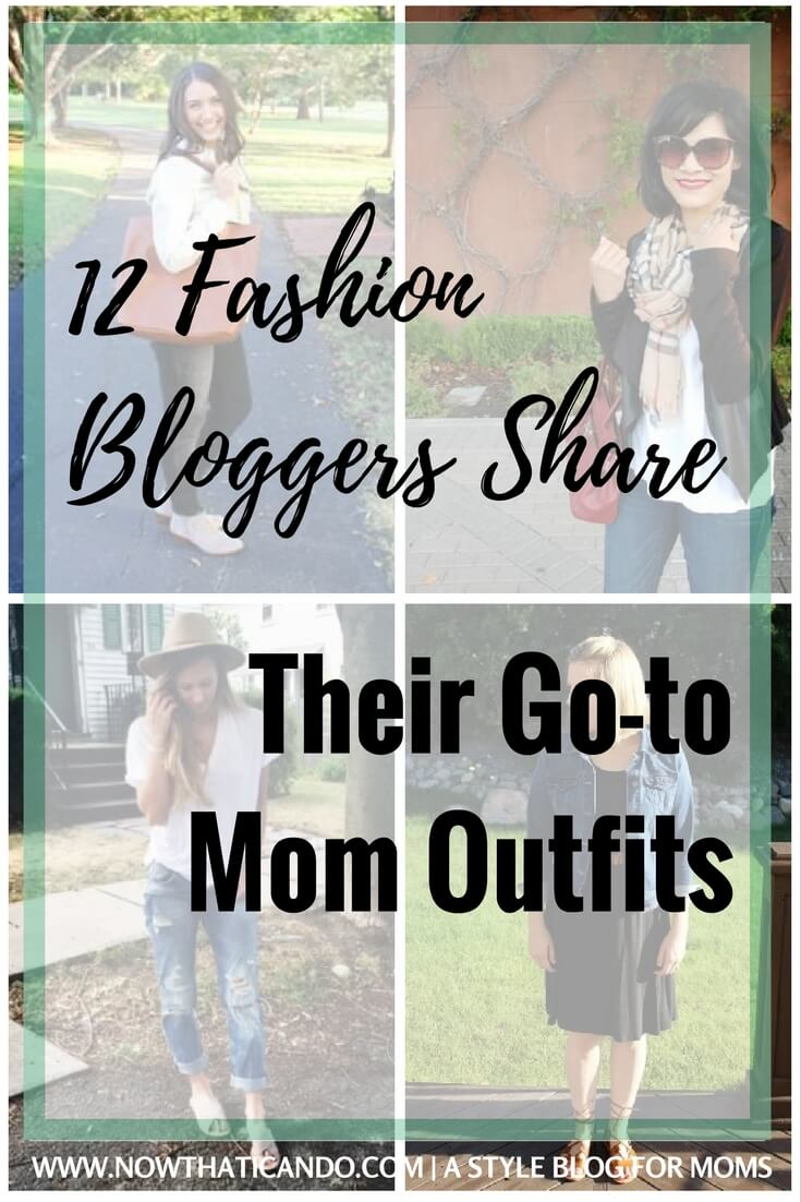Want some ideas for easy but chic mom outfits for the daily grind? Check out what these 12 fashion bloggers default to for an effortless and comfortable look.