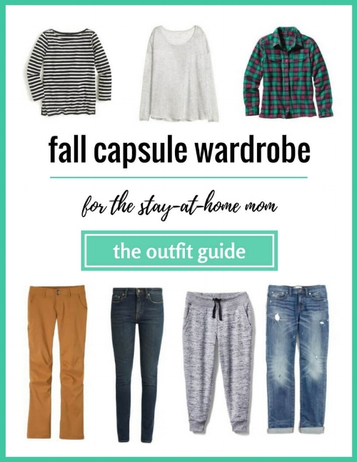 fall capsule wardrobe outfit guide for the stay at home mom
