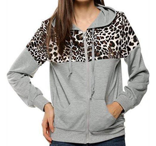 cute leopard print detail hoodie (2).JPG