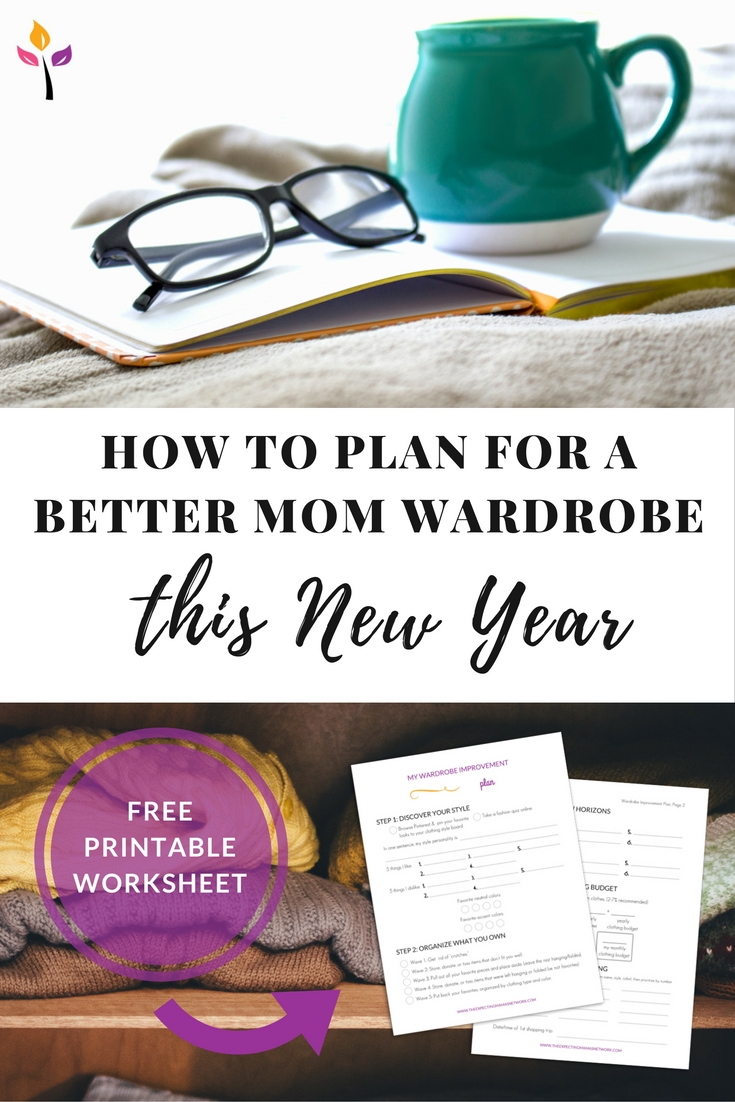 Tired of your clothes and outfits? I LOVE this worksheet with easy steps to improve my existing wardrobe and make a smart gameplan to make it even better this coming year! Click through to get the free printable!