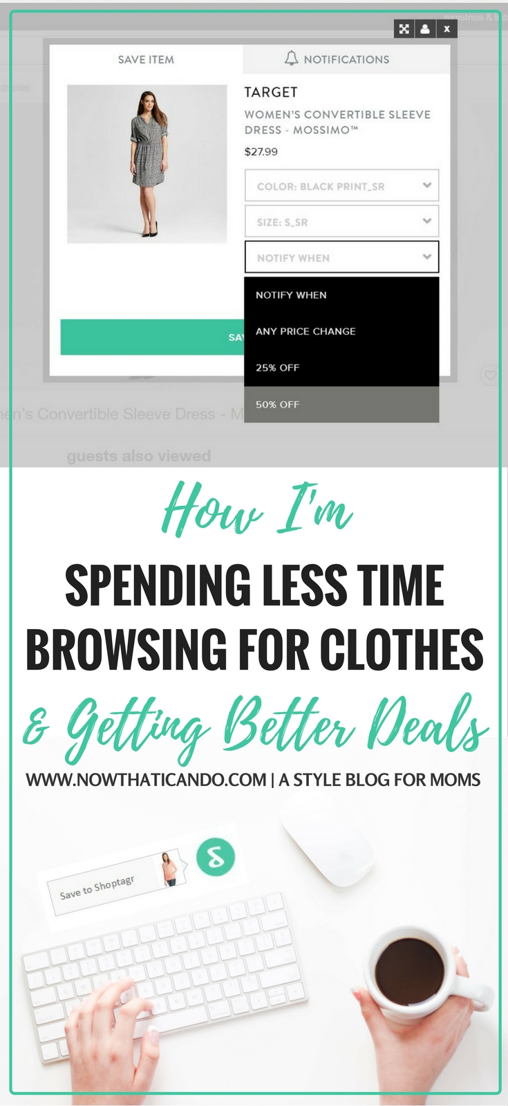 How to never pay full price for clothes you need! Shoptagr is such an awesome tool! I wish I knew about it sooner. Click through to learn more about it!