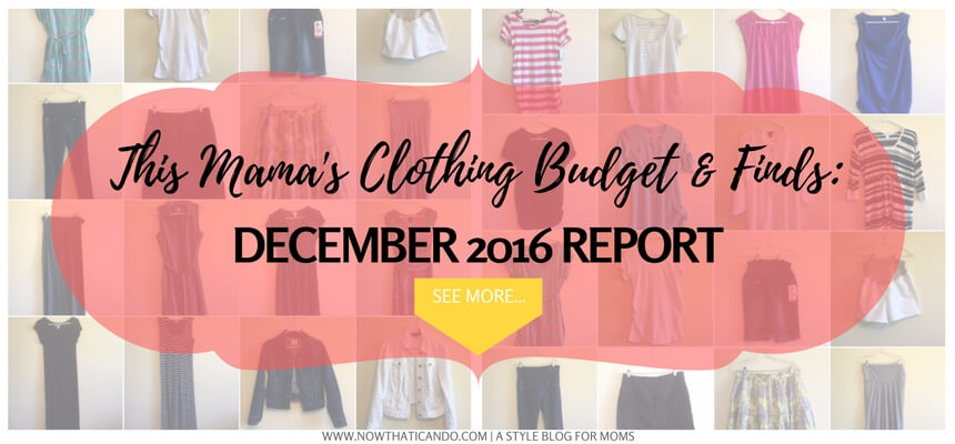 This mom blogger shares her clothing budget and what she bought each month! Click through to find out more about how you can have a monthly budget to enjoy guilt-free, purposeful shopping!