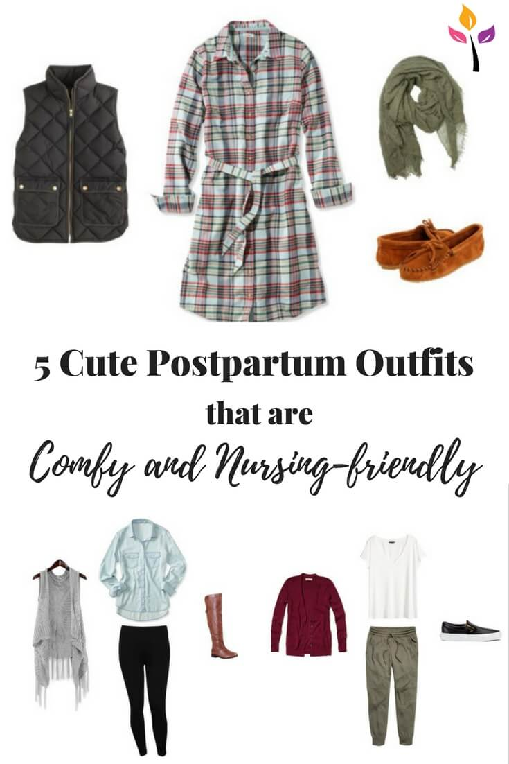 Don't buy expensive nursing clothes when these every day pieces will get you both style and comfort while making it easy to breastfeed your newborn around the clock. Check out the list of clothing pieces new moms should check off their list and 5 cute outfits to put them together!