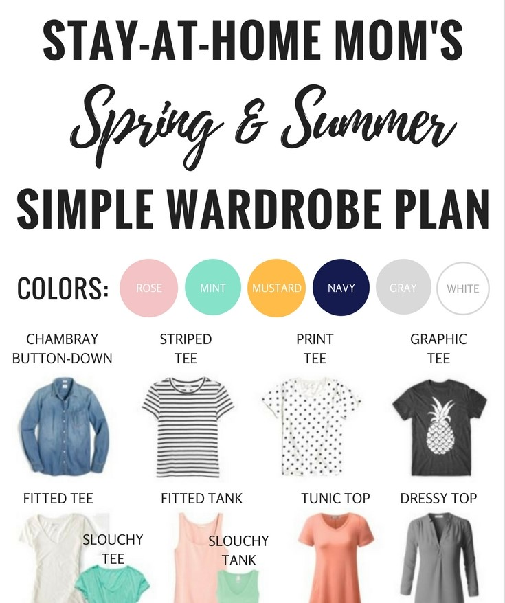 Spring and Summer Wardrobe Capsule Plan for Stay at Home Moms