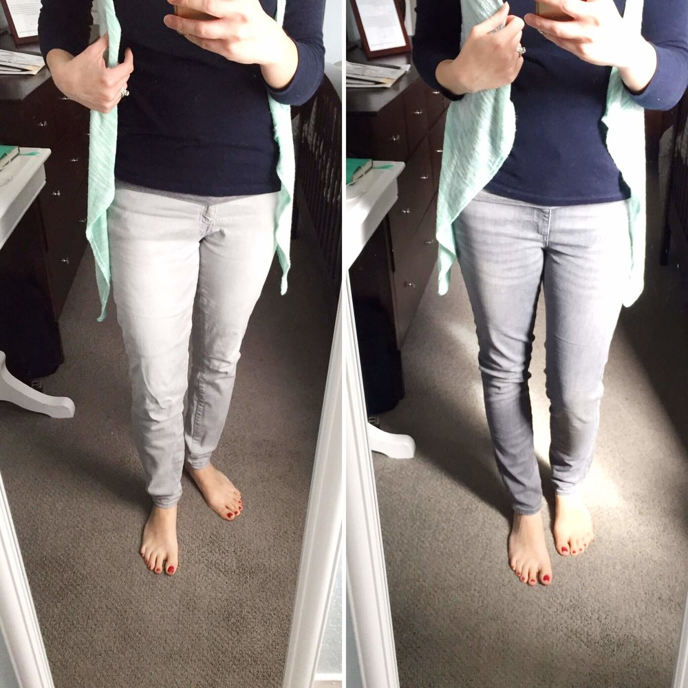 L: GAP Legging Jeans from Poshmark ($13) R: GAP legging Jeans NEW ($32)
