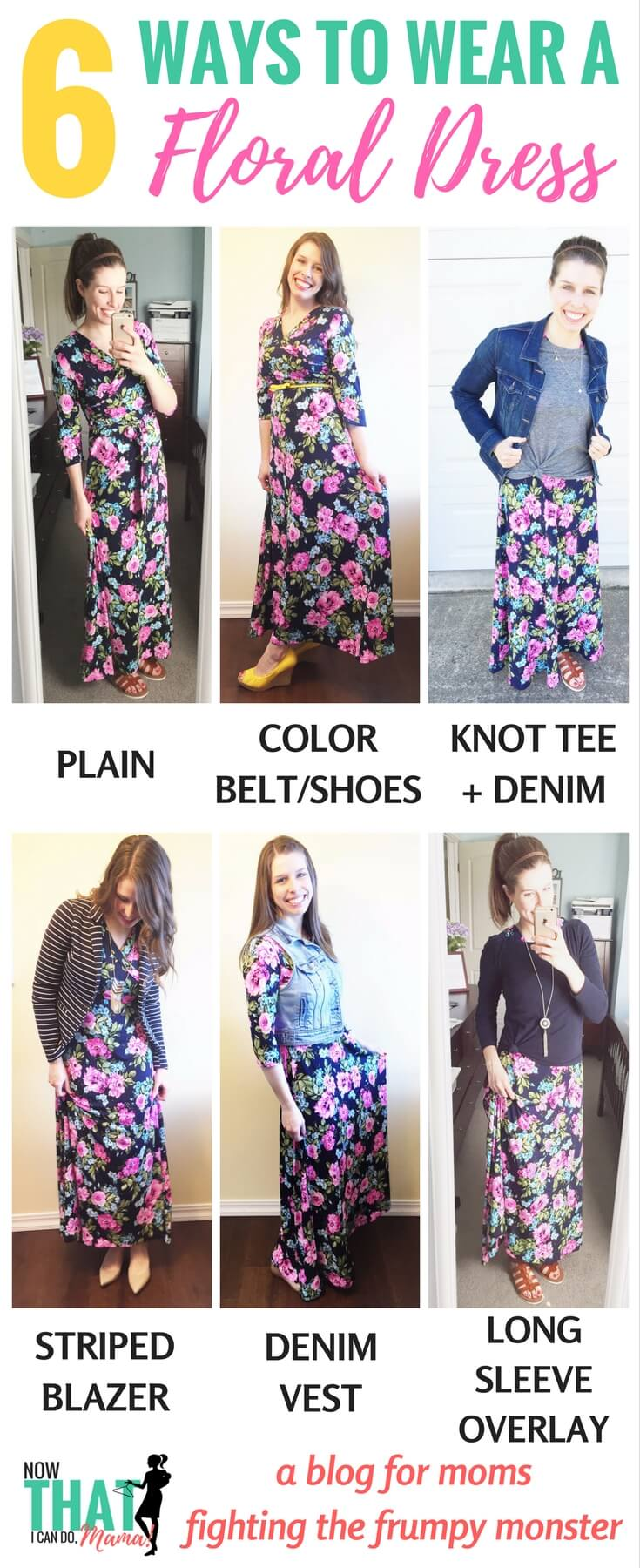 The floral trend can be dressed up or down for mom life. Here are a handful of ways to wear a floral maxi dress. Click through for details and link to this dress.