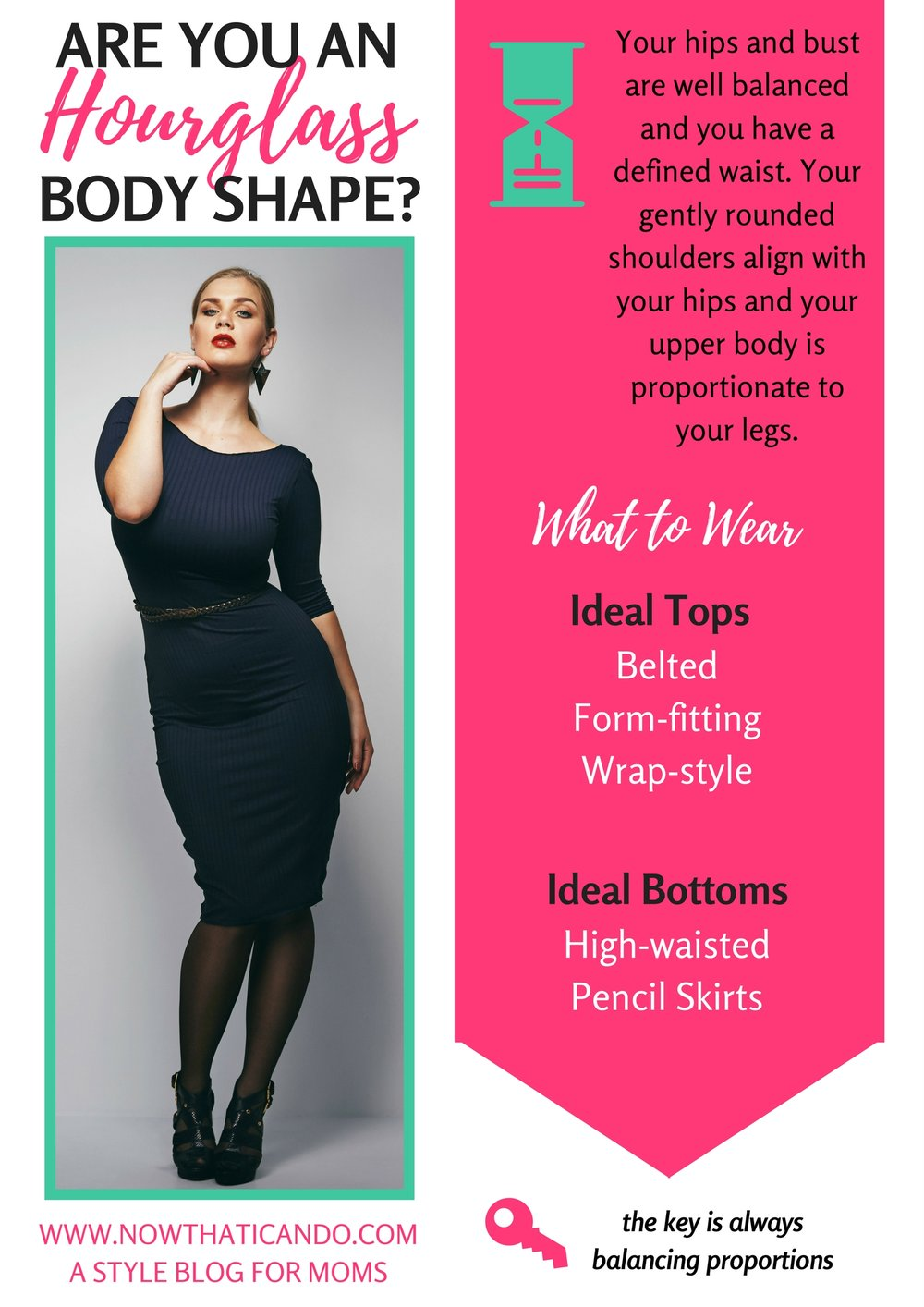 are you an Hourglass body shape?  (Hover to Save on Pinterest!)