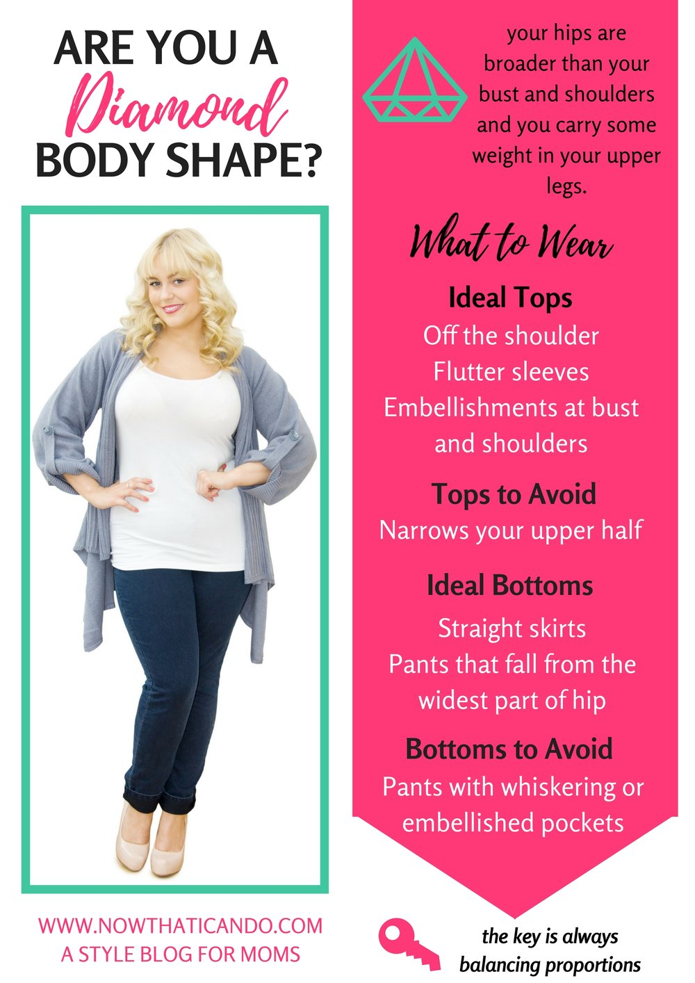 Are you the Diamond Body Shape? (Pin this to for future reference!)