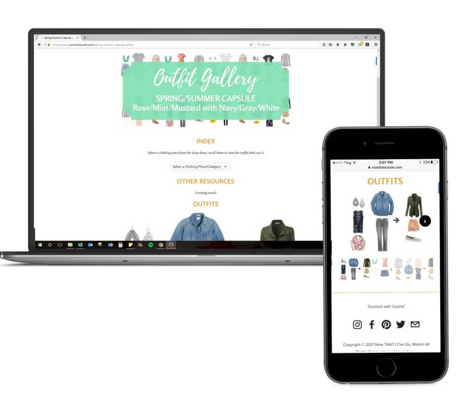 Access to Online Outfit Gallery & Clothing Index