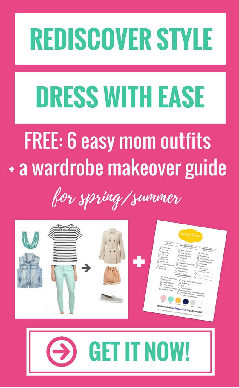 Get free mom outfit ideas that are just as comfy as yoga pants!