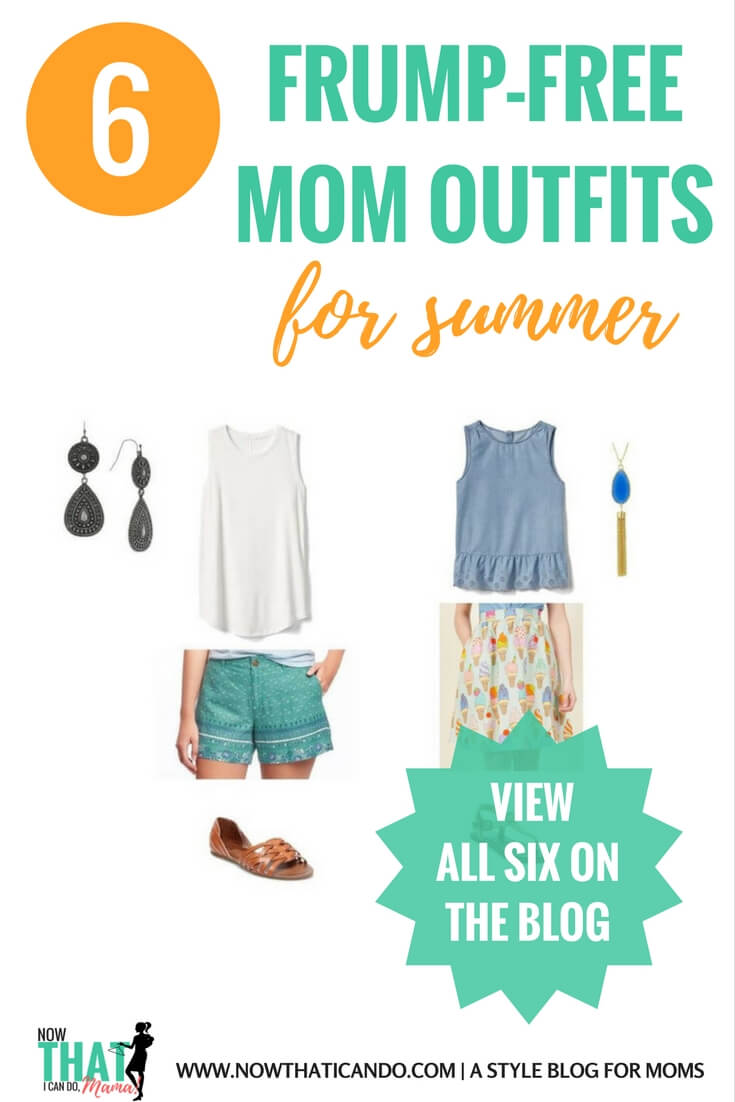 Stylish, trendy, and easy mom outfit ideas for what to wear in the hottest part of summer. Frump free clothes to look chic, comfortable and stay cool! Modest, affordable and fashionable!