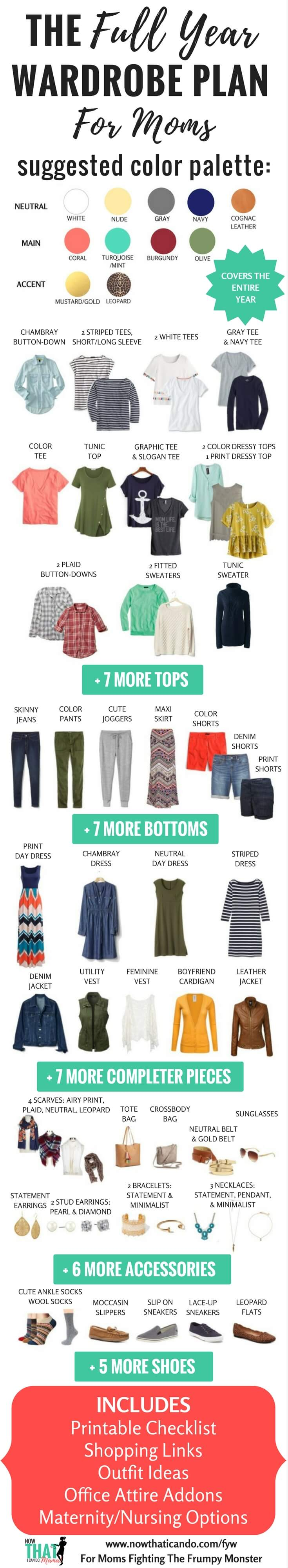 Mom\'s Capsule Wardrobe Plan for All Year, Creates 230+ Outfits (Free ...