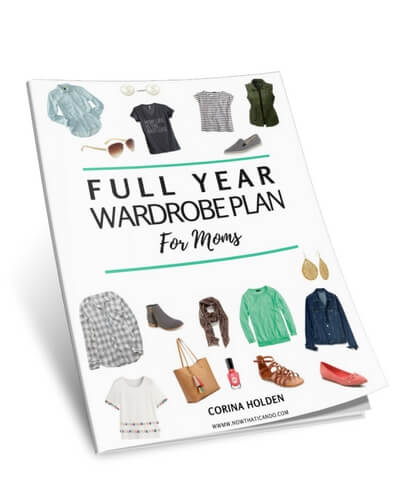 Stay at home mom's full year fall/winter/spring/summer capsule wardrobe plan for what clothes to have. Perfect for young moms under 30 & in their 30's and 40's. Pieces are casual & comfortable but also cute & chic for easy outfits on the go. LOVE! She has a free ebook with a printable planner shopping checklist & tons of links to cheap, affordable pieces (including nursing, maternity & plus size options)!! Plus casual mommy style outfits ideas! Great too for stylish work at home mom or teacher!