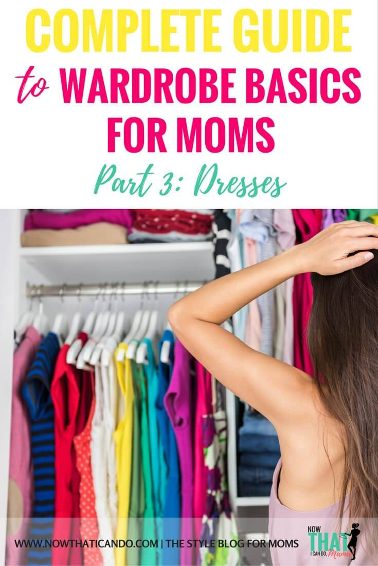 List of everyday wardrobe essentials for busy moms! (She talks about dresses in this one!) If you're transitioning between pregnancy or a mother on the go, this basic guide covers the casual but cute pieces you need to fight the mom frump! This website is so budget friendly!