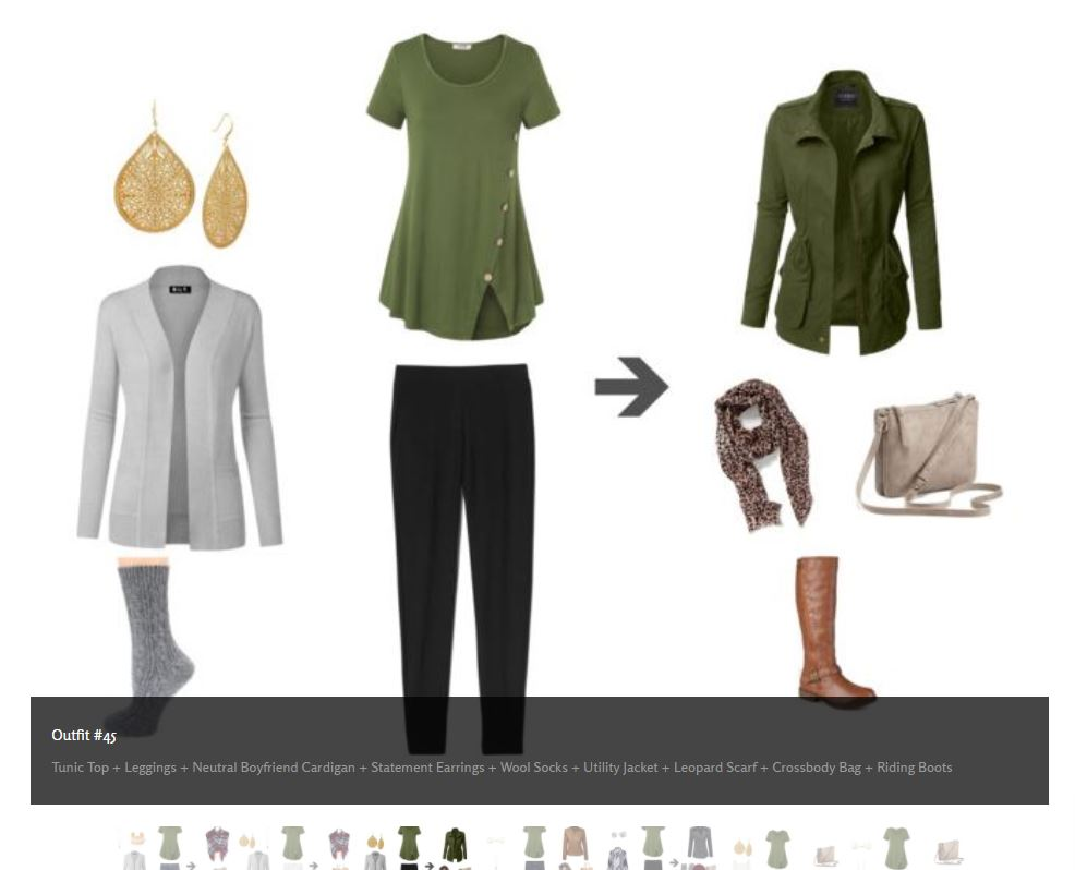 Preview of Full Year Wardrobe Outfit #45 - a total of 239 outfits designed just for mom!