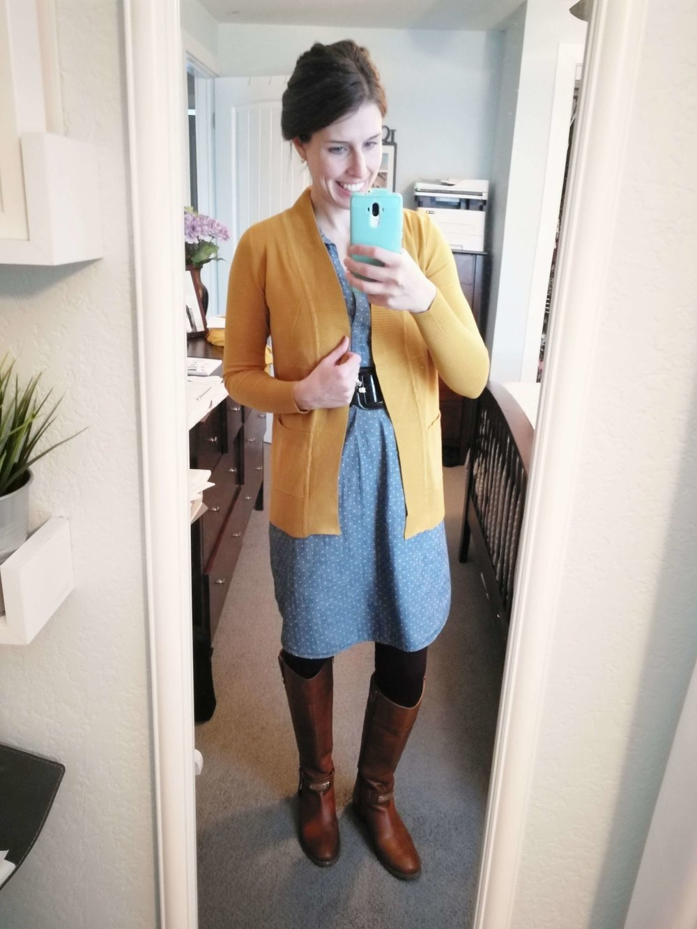 9419b9eb5e92 Denim Skirt Winter Outfit Ideas | Huston Fislar Photography