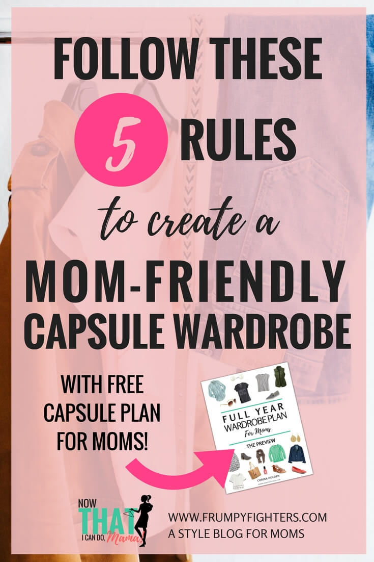 Capsule wardrobes simplify your life, something moms need! If you want a highly remixable wardrobe so that you can start dressing better while staying on a budget, read this post about how to start a capsule wardrobe that is mom-friendly. Keeps the process affordable! Comes with a FREE printable wardrobe plan designed just for moms! #mom #momlife #capsule #fashion #tips #easy #clothes #style