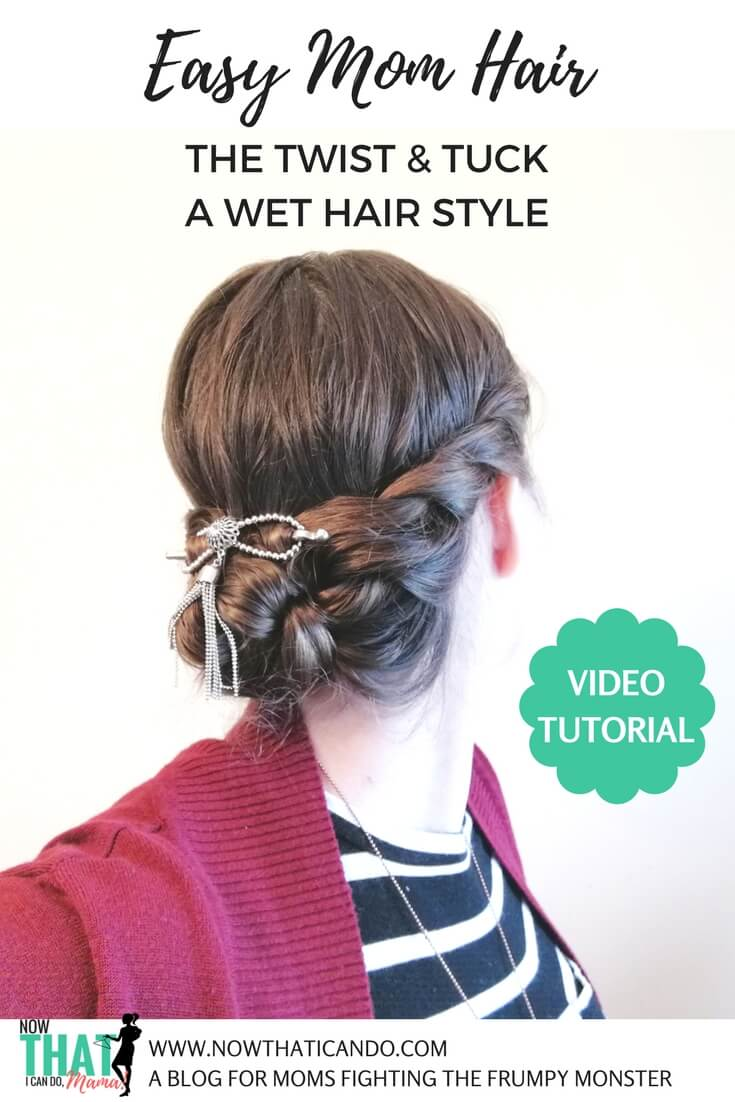 #momlife usually means fast showers in the mornings with even faster beauty routines. I love this #quick and #easy wet #hairstyle using #flexiclips! Whether you need to rush to work, to school or to your toddler's rescue this #style works for many hair lengths and types! #tips  #fashion #mom #ideas  #style #tricks #hair