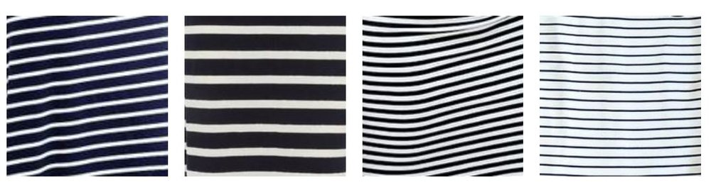 Types of classic Breton striped top patterns