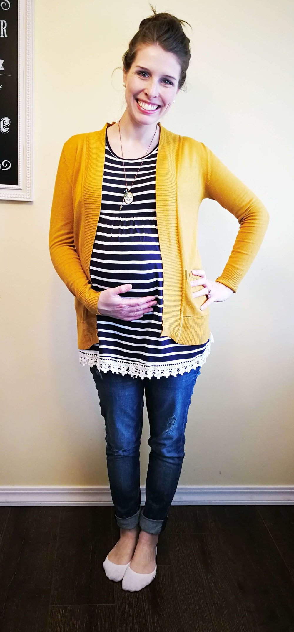 How to yellow a wear striped cardigan exclusive photo