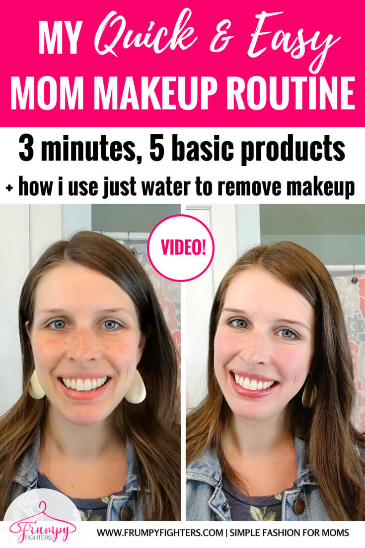 Loved this easy 3-minute step by step makeup video by a pregnant mom of