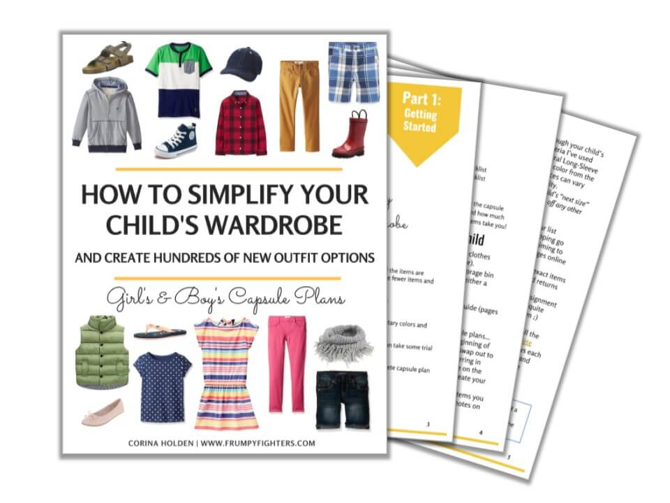 This is THE BEST kid's capsule wardrobe plan because it's simple and classic and all the examples pieces are on Amazon.com! The free #printable PDF includes an example list of the essential clothes in the capsule, a color palette template, and a shopping planner checklist (with links to products on Amazon). Perfect for little toddlers, school age children, and even tweens! (The PDF has both a girl's and boy's capsule) #children #kids #capsulewardrobe #fashion #freeprintable #organization