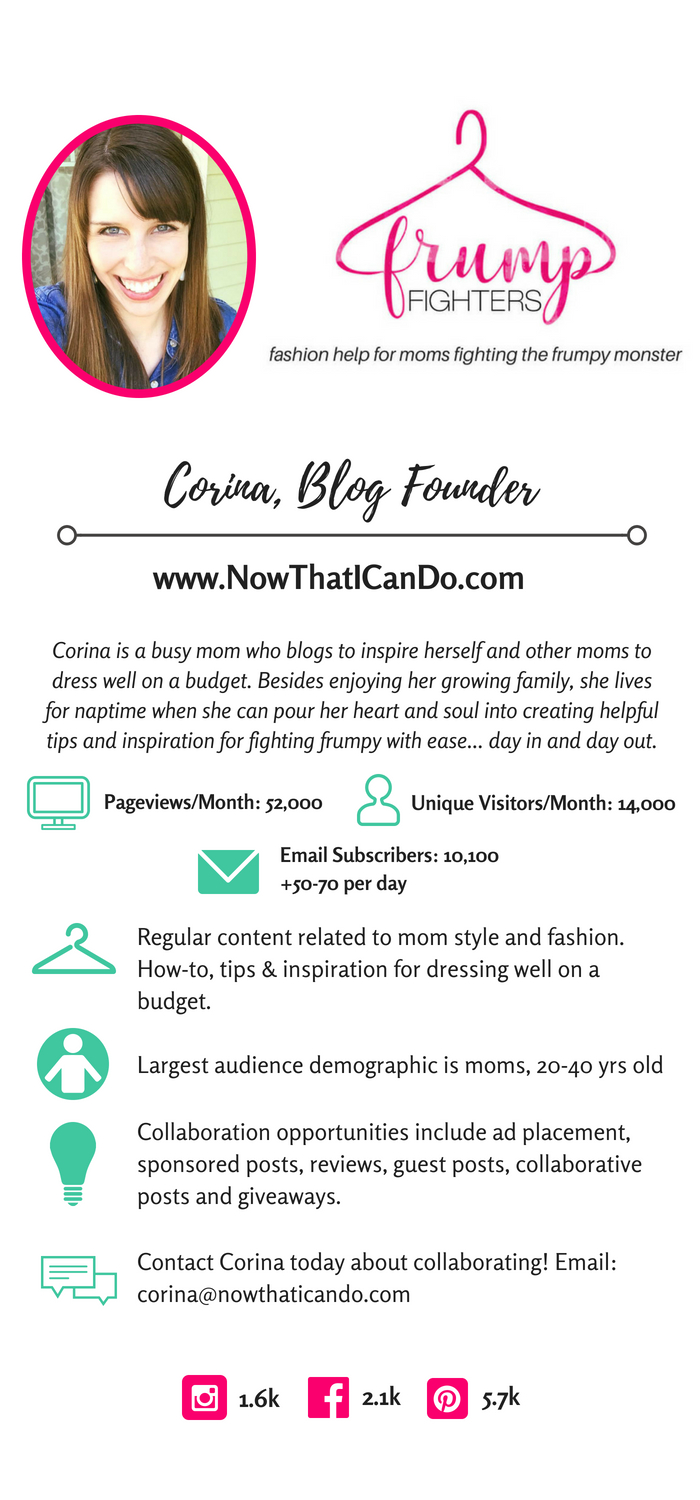 Media Kit for www.nowthaticando.com. Collaborate with Corina!