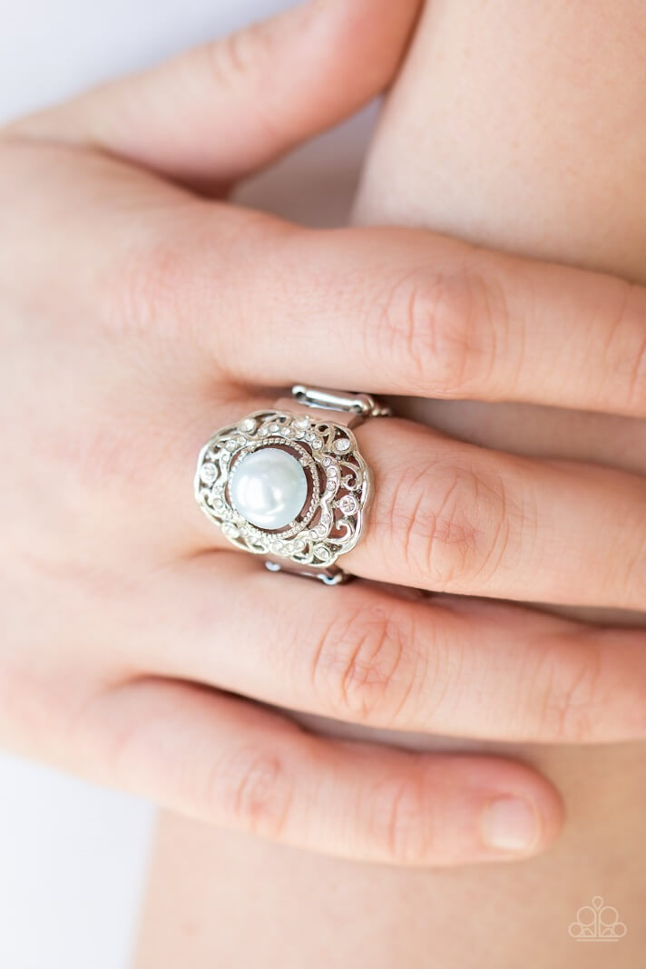 Ring shown: Paparazzi - Pearl Princess in Blue