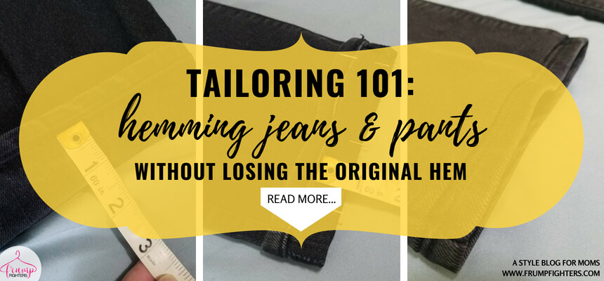 Discover the best way to shorten you jeans and pants with this easy hemming tutorial! Don't be scared, this is an easy DIY that anyone can do, even without a sewing machine! Tailored clothes can make a huge impact on your appearance so why not take this quick how-to lesson and learn a skill that will positively impact your appearance?! #tips #fashion #mom #ideas #style #tricks #momlife #outfits #easy #clothes #howto #hemming #tailoring