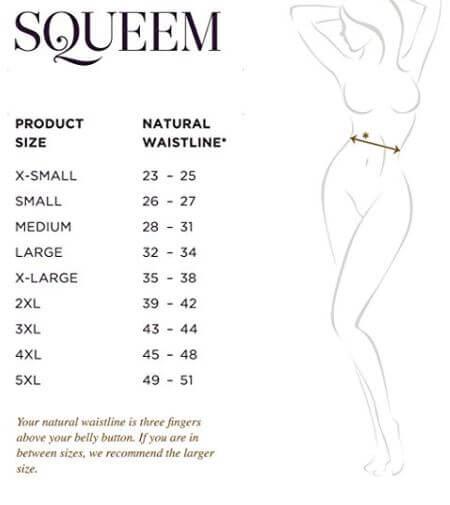 Squeem Review on Amazon - Best waist cincher postpartum - Sizing.JPG
