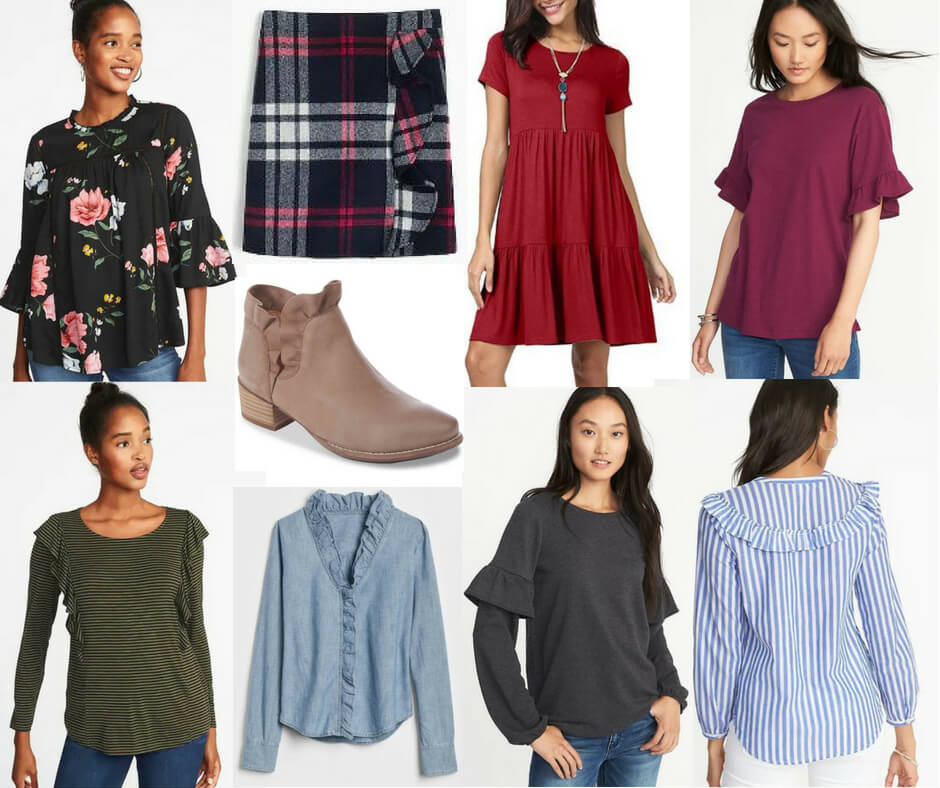 ab47d95f5e82 We saw a lot of ruffles this spring and the trend is still going strong  into fall and winter. Ruffles do tend to emphasize the area they are  located, ...