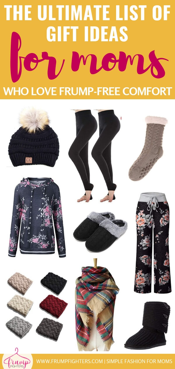 Discover a few carefully chosen clothing pieces that will help you nail cozy and comfy looks for fall and winter that are stylish and on trend. No more frumpy sweatpants or pilly sweaters in your closet! In no time at all you'll be enjoying lazy days cuddled in your bedroom or living room knowing you fought off the frump monster without sacrificing any comfort! #style #mom #comfy #cozy #giftguide #winteroutfits
