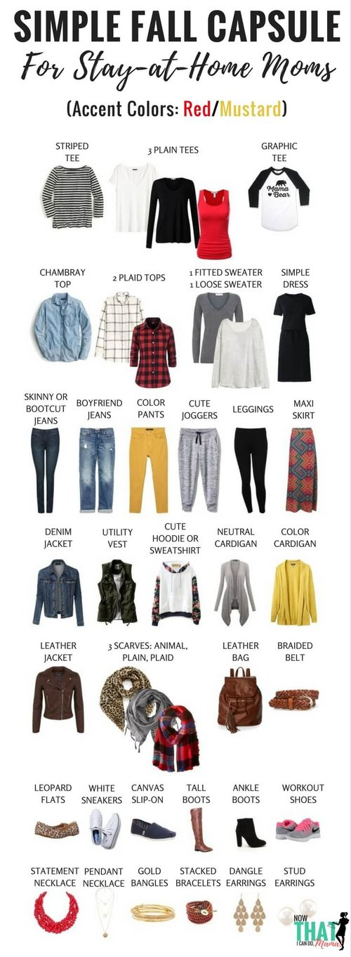 Fall Capsule Wardrobe for Stay at Home Moms