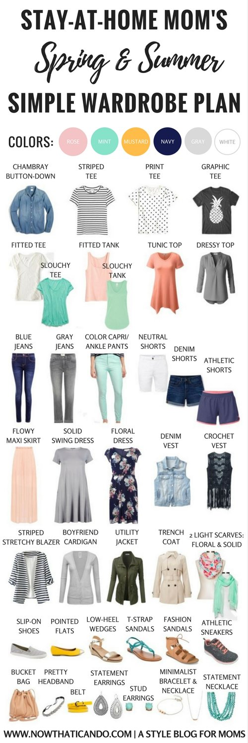Spring & Summer Capsule Wardrobe for Stay at Home Moms