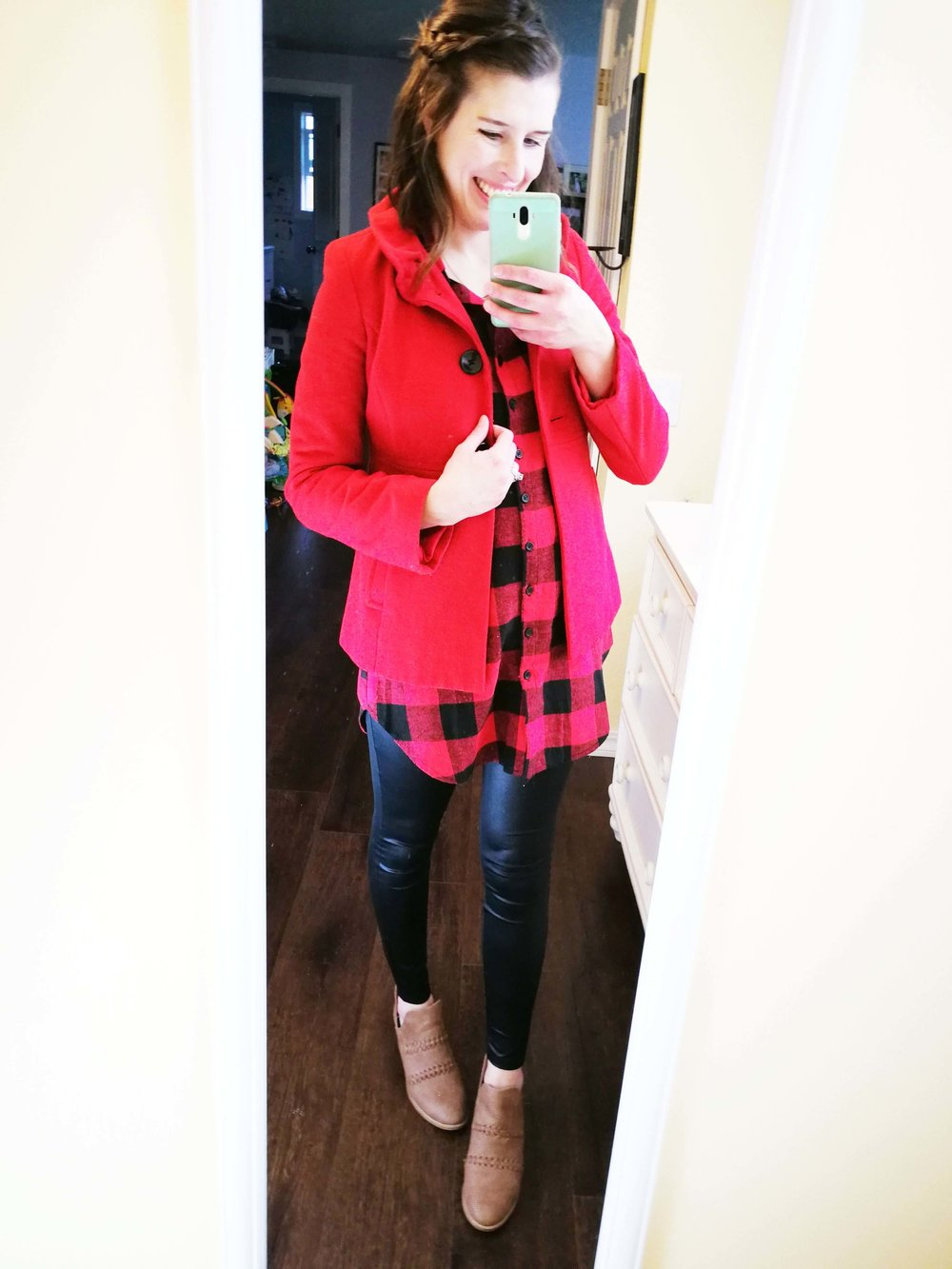 or With ankle boots…